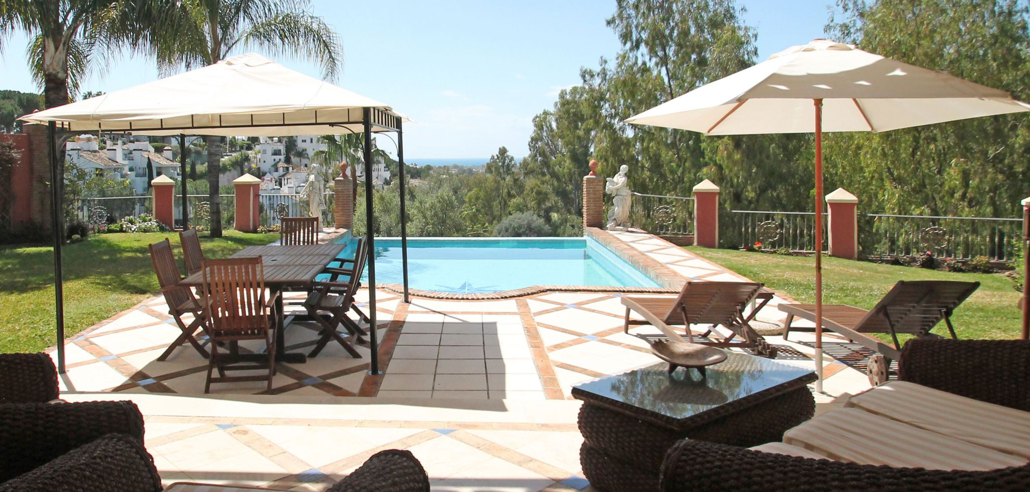 Front-line La Quinta golf course six bed villa with sea views, West Marbella
