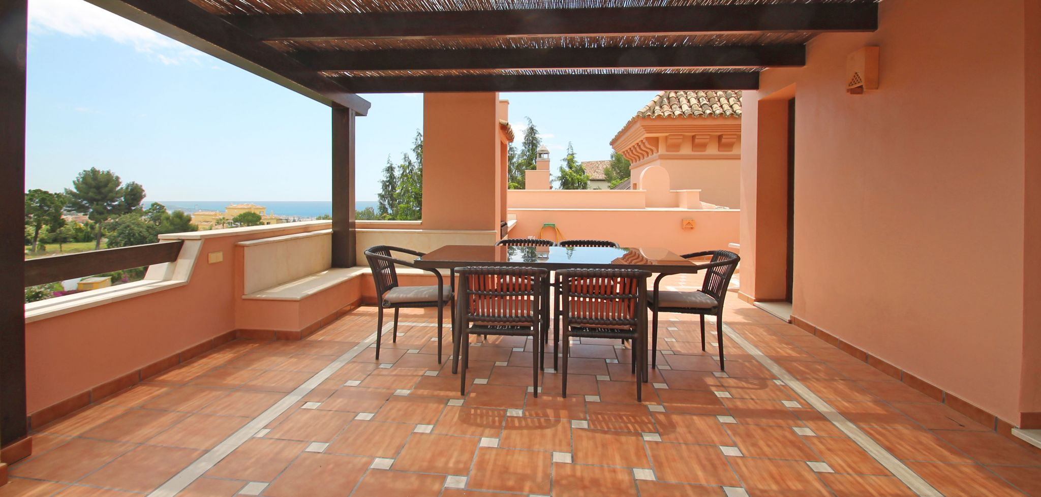 Four bedroom townhouse with sea views above Marbella's Golden Mile